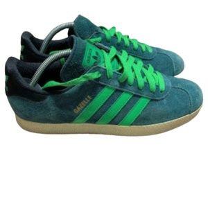 """Men's Adidas """"Gazelle"""" Green Sneakers"""